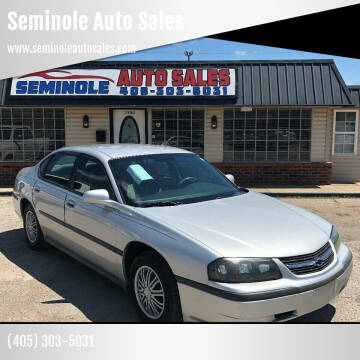 2004 Chevrolet Impala for sale at Seminole Auto Sales in Seminole OK