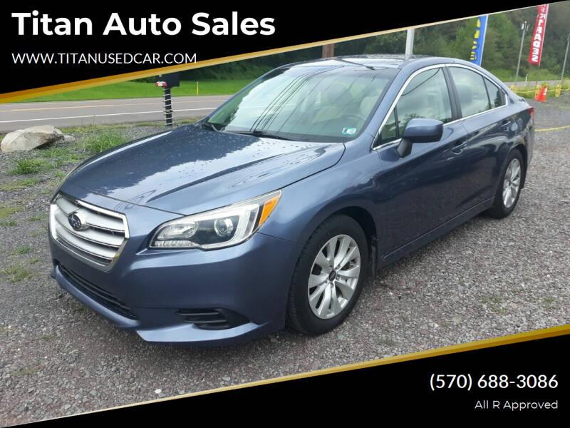 2015 Subaru Legacy for sale at Titan Auto Sales in Berwick PA