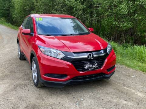 2018 Honda HR-V for sale at Denton Auto Inc in Craftsbury VT