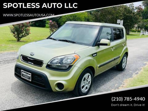 2013 Kia Soul for sale at SPOTLESS AUTO LLC in San Antonio TX