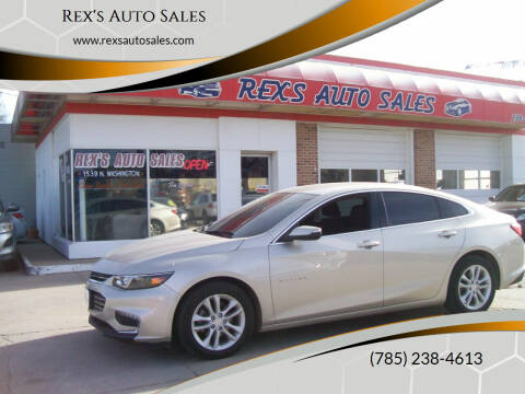 2016 Chevrolet Malibu for sale at Rex's Auto Sales in Junction City KS