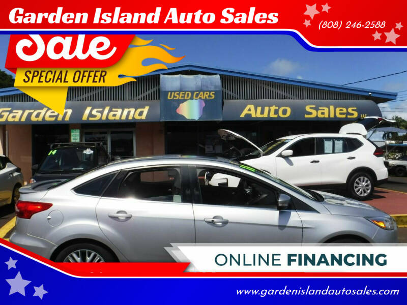 2016 Ford Focus for sale at Garden Island Auto Sales in Lihue HI