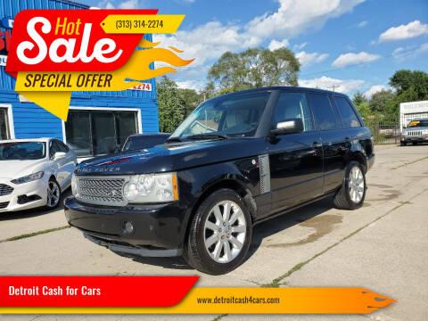 2008 Land Rover Range Rover for sale at Detroit Cash for Cars in Warren MI