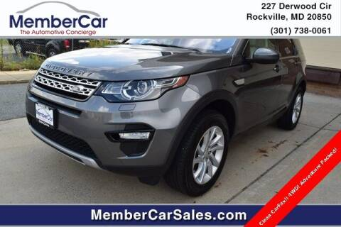 2019 Land Rover Discovery Sport for sale at MemberCar in Rockville MD