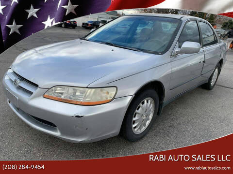 1999 Honda Accord for sale at RABI AUTO SALES LLC in Garden City ID