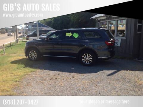 2015 Dodge Durango for sale at GIB'S AUTO SALES in Tahlequah OK