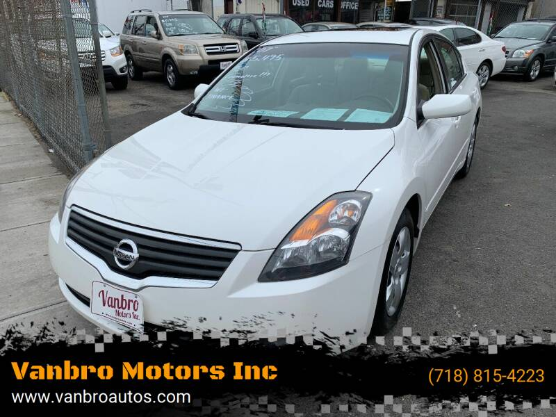 2007 Nissan Altima for sale at Vanbro Motors Inc in Staten Island NY