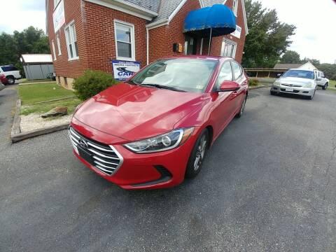 2017 Hyundai Elantra for sale at Regional Auto Sales in Madison Heights VA