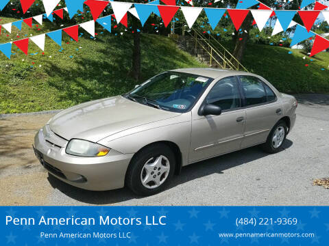 2004 Chevrolet Cavalier for sale at Penn American Motors LLC in Allentown PA