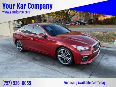 2015 Infiniti Q50 for sale at Your Kar Company in Norfolk VA
