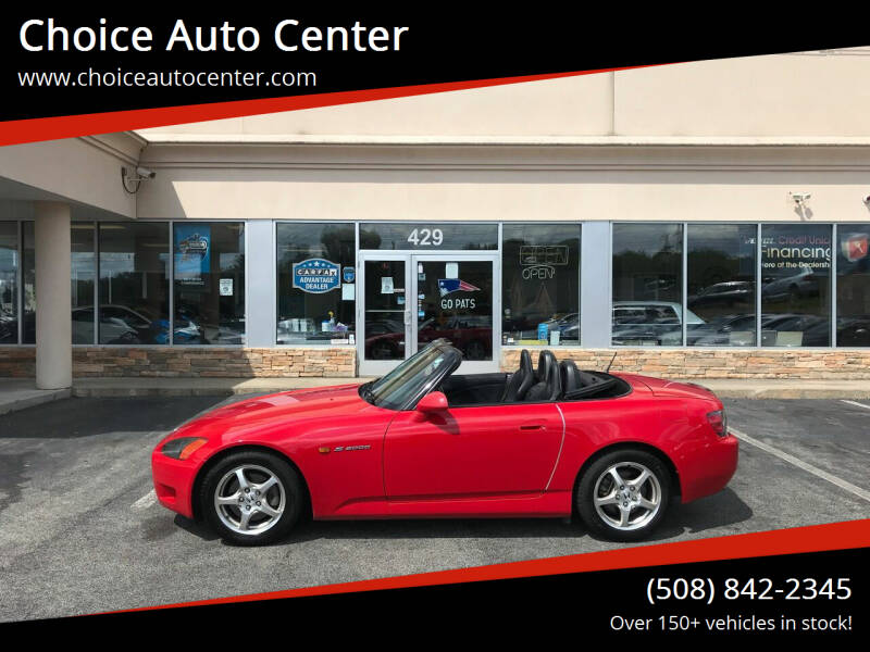 2002 Honda S2000 for sale at Choice Auto Center in Shrewsbury MA