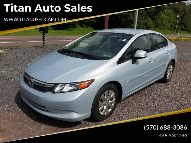 2012 Honda Civic for sale at Titan Auto Sales in Berwick PA