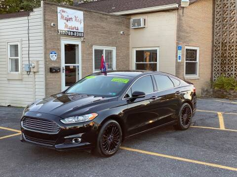 2016 Ford Fusion for sale at Major Key Motors in Lebanon PA