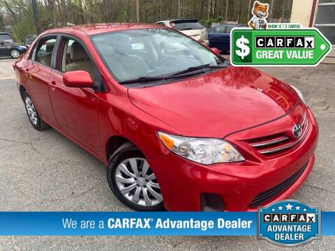 2013 Toyota Corolla for sale at High Rated Auto Company in Abingdon MD