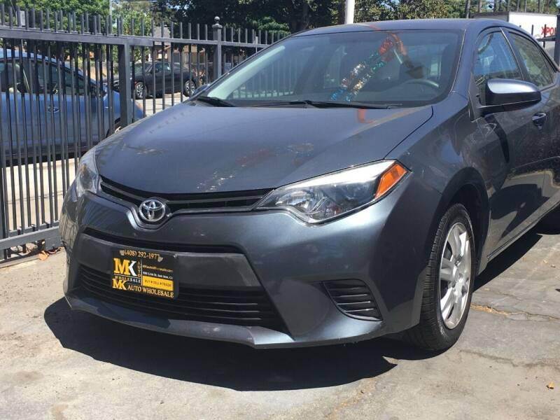 2016 Toyota Corolla for sale at MK Auto Wholesale in San Jose CA