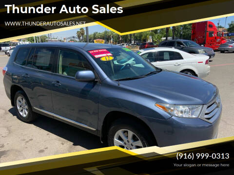 2012 Toyota Highlander for sale at Thunder Auto Sales in Sacramento CA