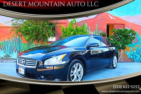 2012 Nissan Maxima for sale at DESERT MOUNTAIN AUTO LLC in Tucson AZ