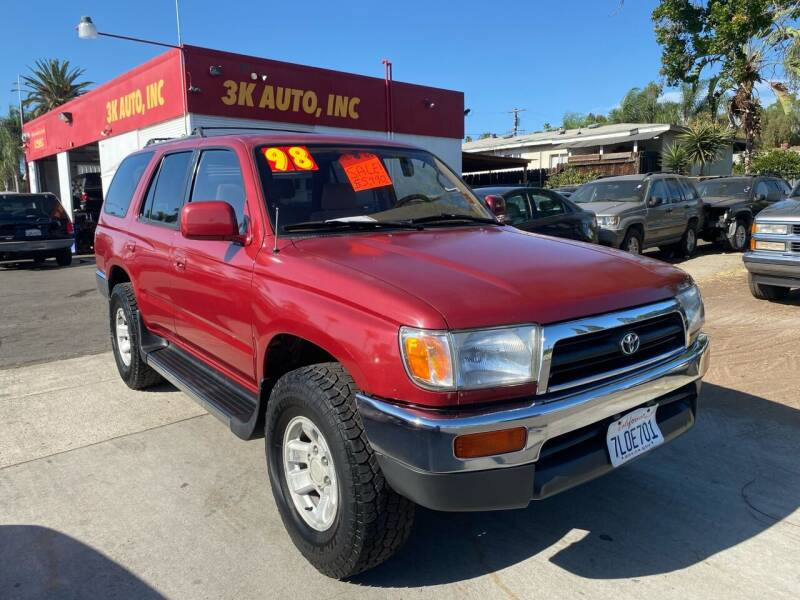 1998 Toyota 4Runner for sale at 3K Auto in Escondido CA