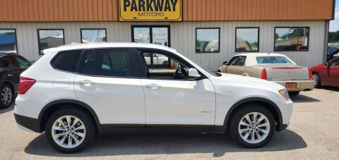 2013 BMW X3 for sale at Parkway Motors in Springfield IL