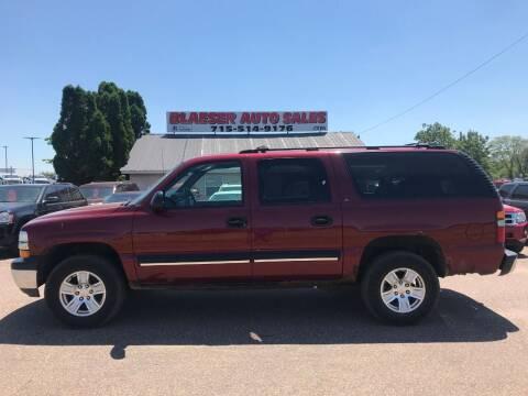 2001 Chevrolet Suburban for sale at BLAESER AUTO LLC in Chippewa Falls WI
