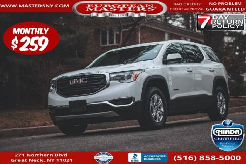 2018 GMC Acadia for sale at European Masters in Great Neck NY