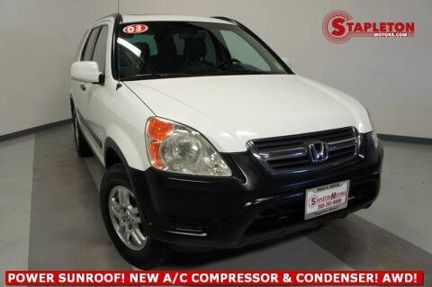 2003 Honda CR-V for sale at STAPLETON MOTORS in Commerce City CO