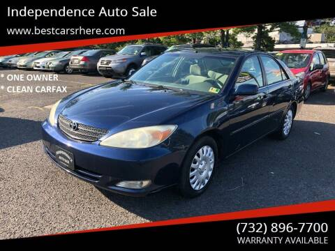 2003 Toyota Camry for sale at Independence Auto Sale in Bordentown NJ