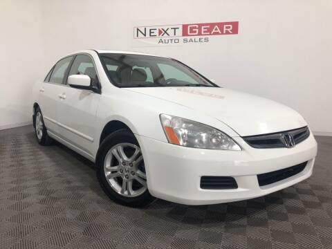 2007 Honda Accord for sale at Next Gear Auto Sales in Westfield IN