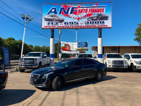 2018 Cadillac CT6 for sale at ANF AUTO FINANCE in Houston TX