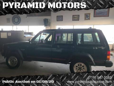 1995 Jeep Cherokee for sale at PYRAMID MOTORS - Pueblo Lot in Pueblo CO