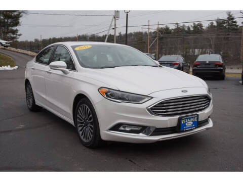2017 Ford Fusion for sale at VILLAGE MOTORS in South Berwick ME