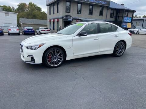 2018 Infiniti Q50 for sale at Sisson Pre-Owned in Uniontown PA