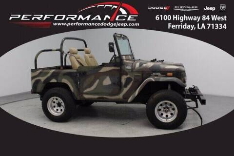 1972 Toyota Land Cruiser for sale at Performance Dodge Chrysler Jeep in Ferriday LA