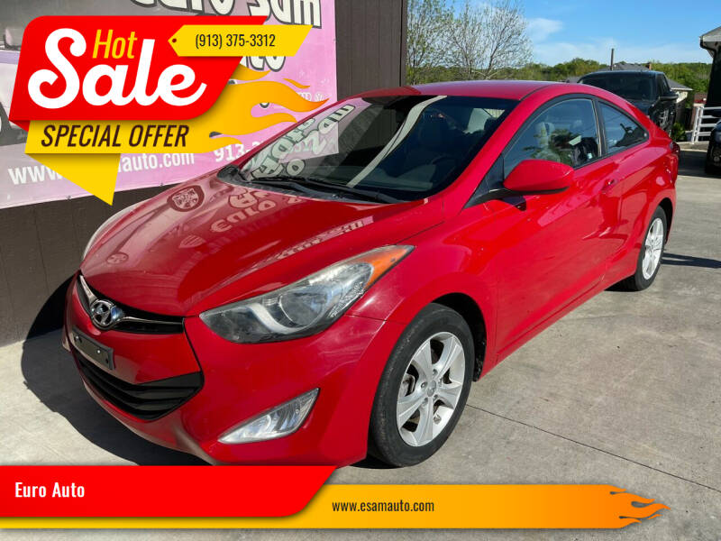 2013 Hyundai Elantra Coupe for sale at Euro Auto in Overland Park KS