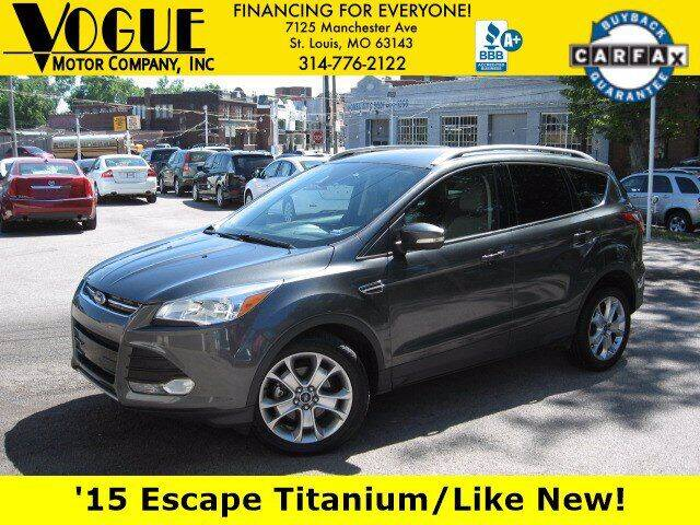 2015 Ford Escape for sale at Vogue Motor Company Inc in Saint Louis MO