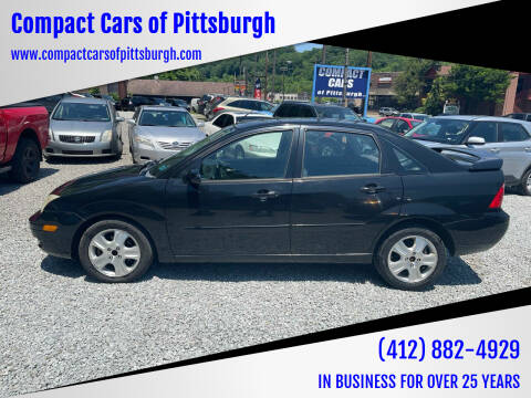 2006 Ford Focus for sale at Compact Cars of Pittsburgh in Pittsburgh PA