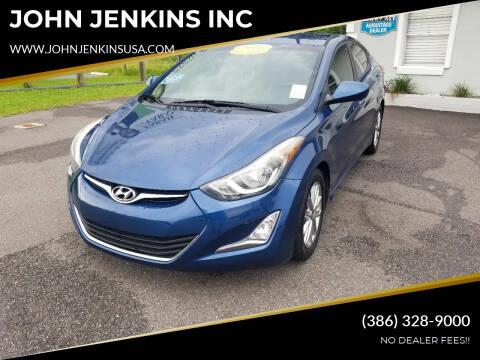 2016 Hyundai Elantra for sale at JOHN JENKINS INC in Palatka FL