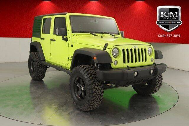2017 Jeep Wrangler Unlimited for sale at K&M Wayland Chrysler  Dodge Jeep Ram in Wayland MI