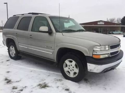 2002 Chevrolet Tahoe for sale at MATTHEWS AUTO SALES in Elk River MN