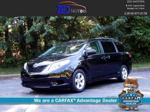2013 Toyota Sienna for sale at Zed Motors in Raleigh NC