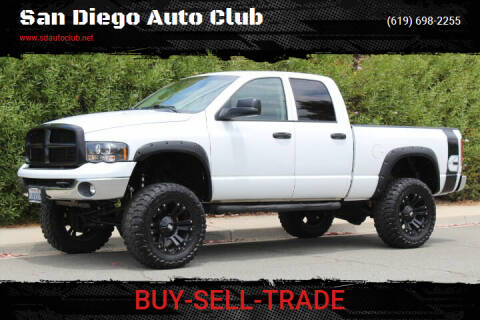 2005 Dodge Ram Pickup 2500 for sale at San Diego Auto Club in Spring Valley CA