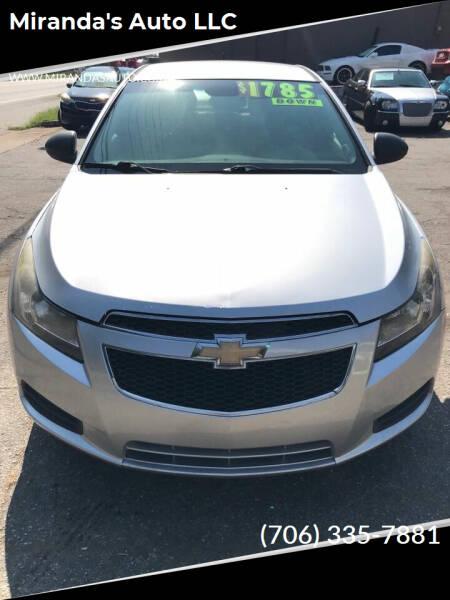 2011 Chevrolet Cruze for sale at Miranda's Auto LLC in Commerce GA