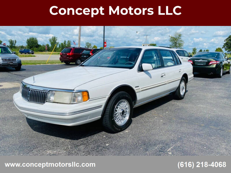 1993 Lincoln Continental for sale at Concept Motors LLC in Holland MI