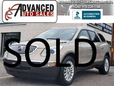 2010 Buick Enclave for sale at Advanced Auto Sales in Dracut MA