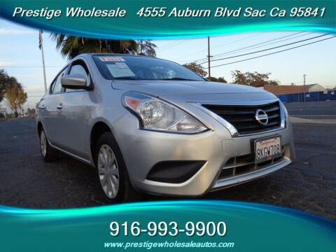 2017 Nissan Versa for sale at Prestige Wholesale in Sacramento CA