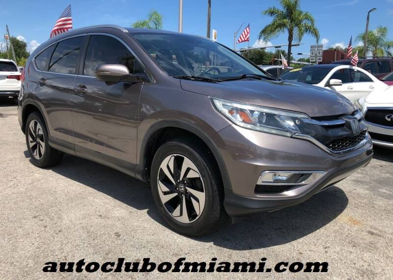 2015 Honda CR-V for sale at AUTO CLUB OF MIAMI, INC in Miami FL