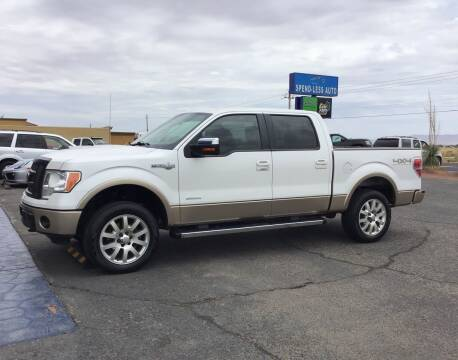 2012 Ford F-150 for sale at SPEND-LESS AUTO in Kingman AZ