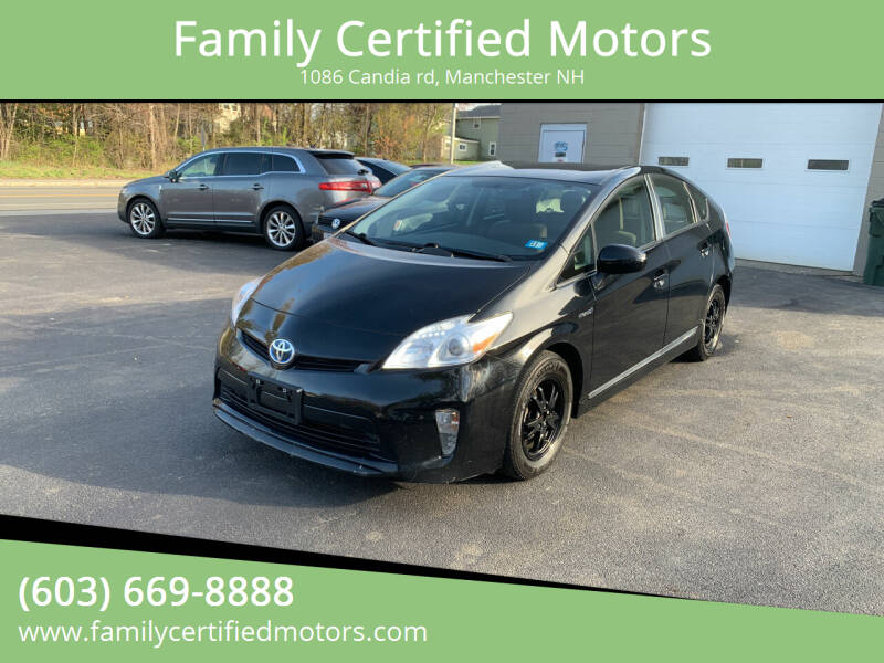 2015 Toyota Prius for sale at Family Certified Motors in Manchester NH