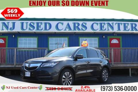 2016 Acura MDX for sale at New Jersey Used Cars Center in Irvington NJ