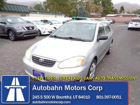 2005 Toyota Corolla for sale at Autobahn Motors Corp in Bountiful UT